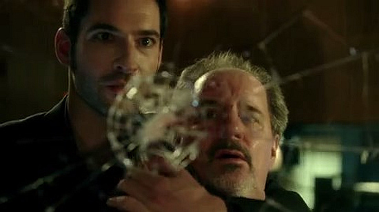Tom Ellis and John Pankow in Fox's Lucifer